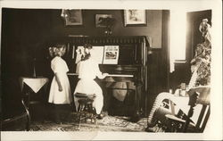 "Girls at Piano ""Just as the Ship Went Down"""