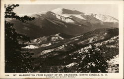 Mt. Washington From Summit of Mt. Cranmore Postcard