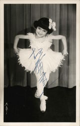Asian Child Ballerina, Signed