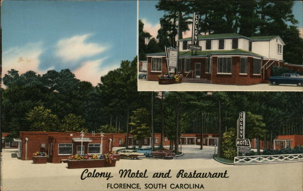 Colony Motel and Restaurant Florence South Carolina