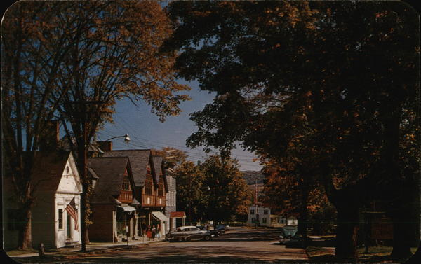 Commercial Street Looking East Gilbertsville New York