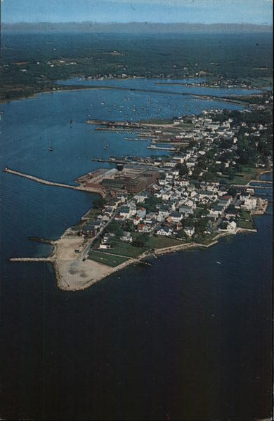Air view of Stonington Connecticut