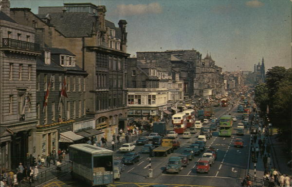Princes Street Edinburgh Scotland