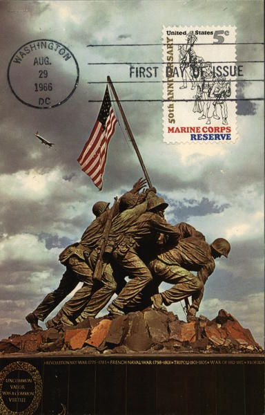 Iwo Jima Statue Arlington Virginia Marines First Day Issue Cards