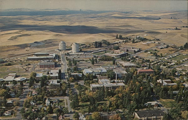 Aerial View of Eastern Washington State College Cheney