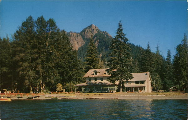 Lake Crescent Lodge and Storm King Mountain Port Angeles Washington