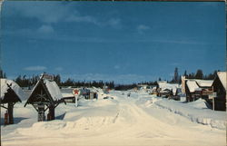 Main Street in the Winter Postcard