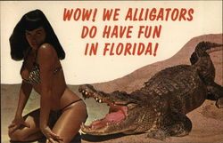 Bettie Page Wow! We Alligators Do Have Fun in Florida?