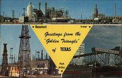 The Golden Triangle of Texas Postcard