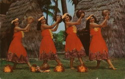 Kent Gihrard's Hula Nani Girls in Pahu Skirts
