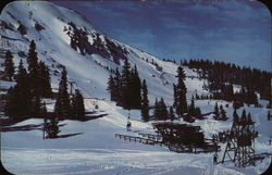 Summit of Berthoud Pass and the Twin Chair Ski Lift.