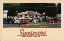 Sycamore Drive-In Restaurant Postcard
