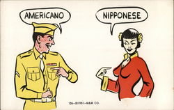 American Soldier and Nipponese Girl