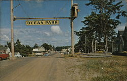 Entrance to Ocean Park, Washington