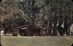 Ox Yoke Lodge, Ohme Gardens Postcard