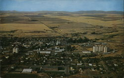 Aerial of Wilbur, Washington