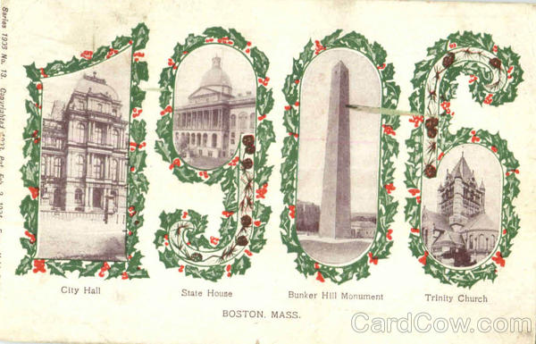 1906 Boston Massachusetts Years