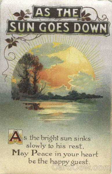 As The Sun Goes Down Poems