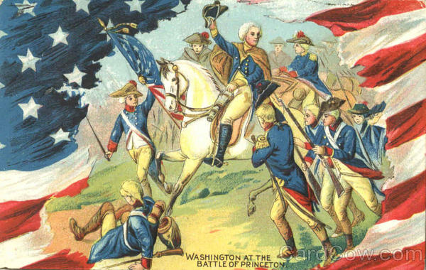 Washington At The Battle Of Princeton Patriotic