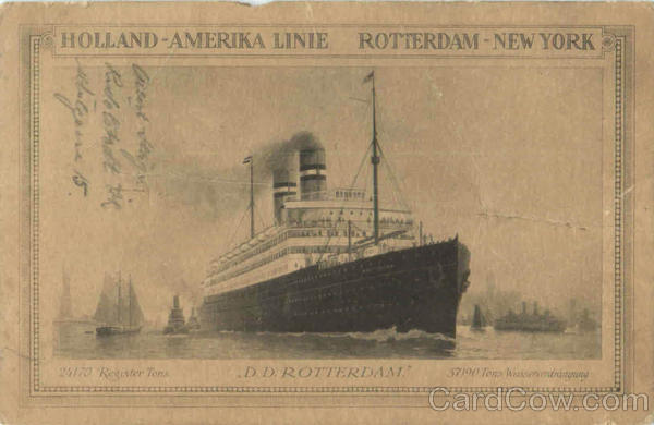 Holland America Linie Rotterdam Boats, Ships