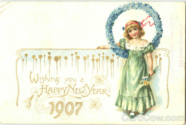 Wish You A Happy New Year 1907 New Year's