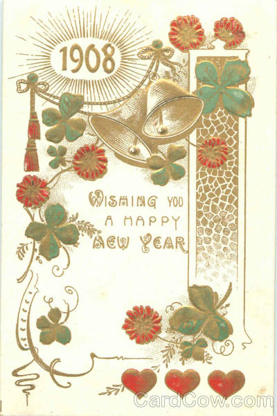 1908 Wishing You A Happy New Year Years