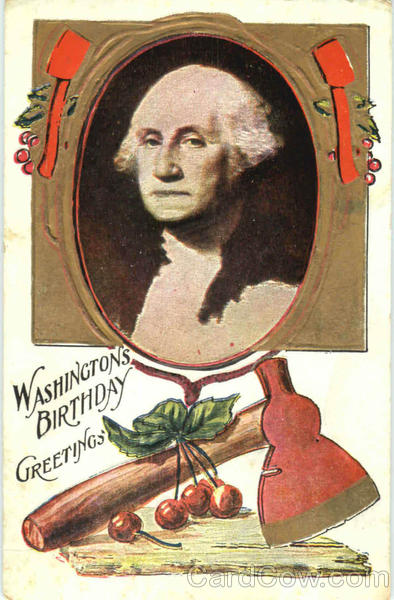 Washingtons Birthday Greetings Patriotic