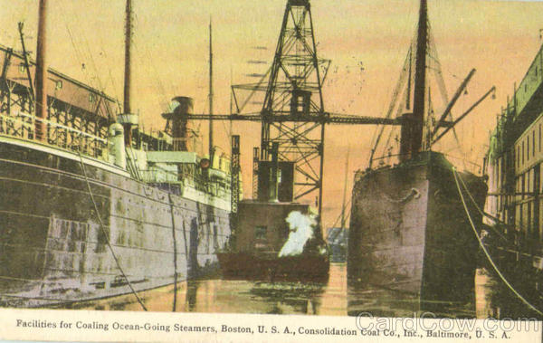 Facilities For Coaling Ocean Going Steamers Boston