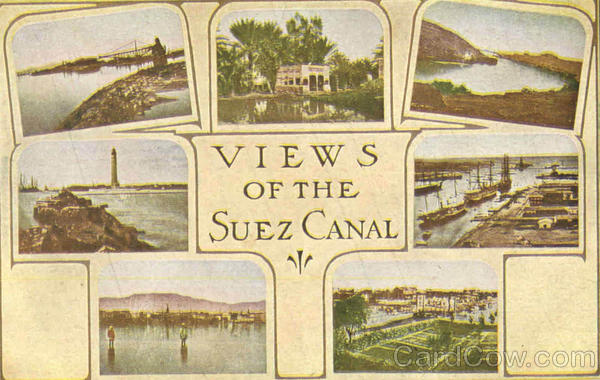 Views Of The Suez Canal Egypt