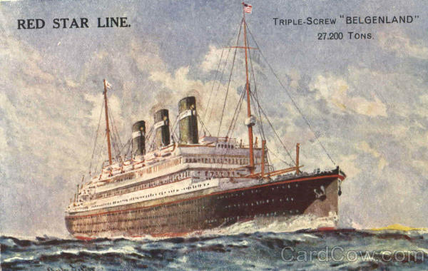 Red Star Line Boats, Ships
