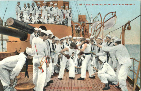 Boxing On Board United States Warship Navy