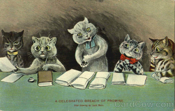 A Celebrated Breach Of Promise Louis Wain