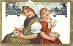Dutch Children Having Tea