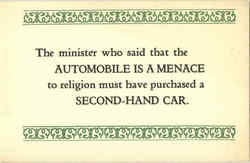Automobile is a menace to religion