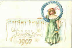 Wish You A Happy New Year 1907