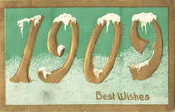 1909 Best Wishes Postcard