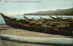 The Indian Whaling Canoe Of Puget Sound