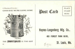 Haynes Langenberg Mfg. Co.,, 4051 Forest Park Blvd