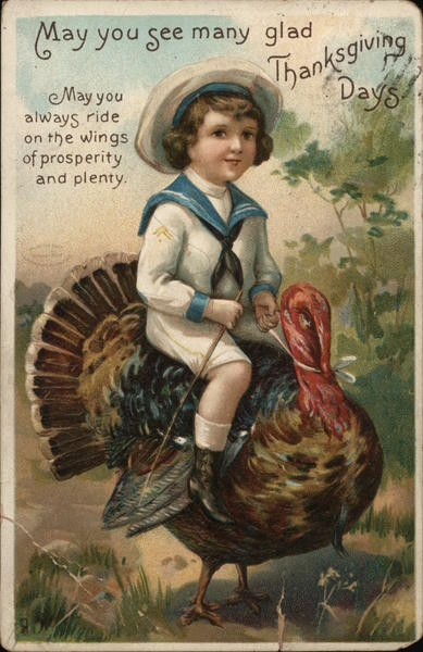 May You See Many Glad Thanksgiving Days Ellen Clapsaddle