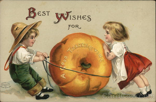 Best Wishes For A Good Thanksgiving Ellen Clapsaddle