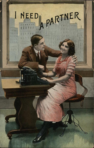 I NEED A PARTNER Couples Typewriters