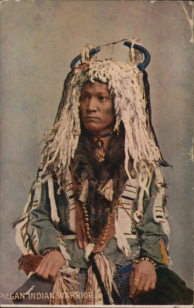 Piegan Indian Warrior Native Americana