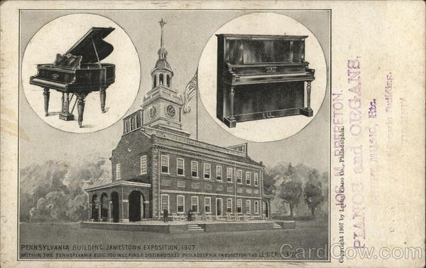 Pennsylvania Building Jamestown Exposition, 1907; Lester Pianos