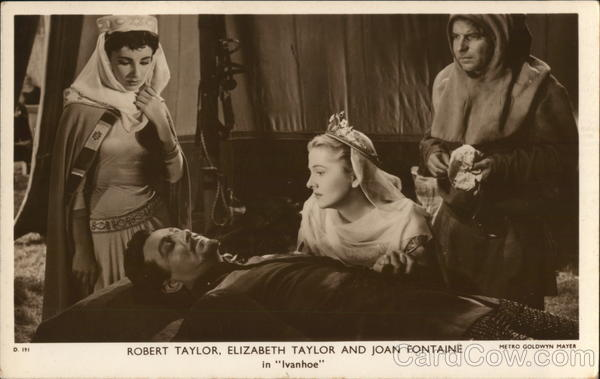 Robert Taylor, Elizabeth Taylor and Joan Fontaine in the movie Ivanhoe.