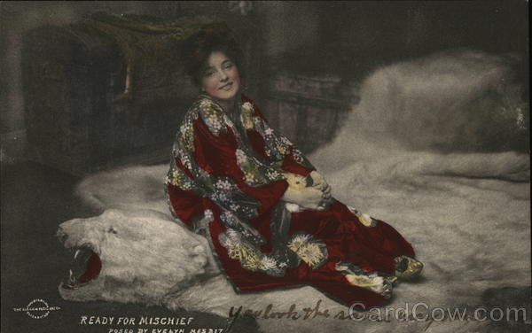 Ready for Mischief, Posed by Evelyn Nesbit Actresses