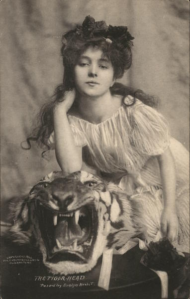 The Tiger Head, Posed by Evelyn Nesbit Actresses