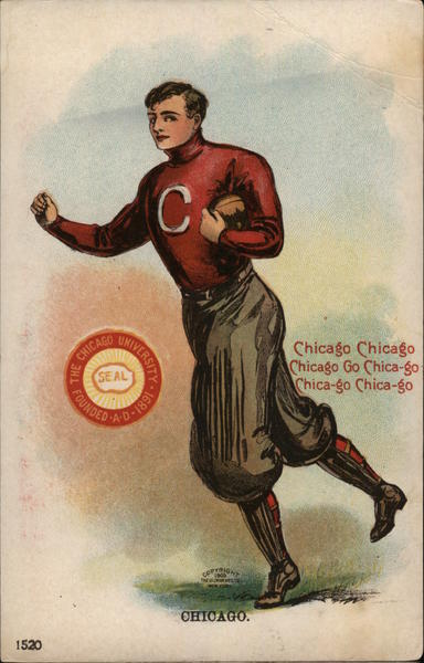 University of Chicago Football Man College Girls