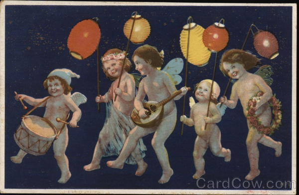 Cherubs playing music Angels & Cherubs