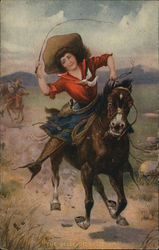 Cowgirl: The Bell of the Plain Postcard