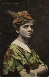 Miss Maude Adams Photo - Hand Colored Postcard